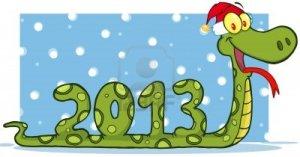 15431628-personnage-de-dessin-anime-serpent-affichage-chiffres-2013-avec-le-chapeau-de-santa